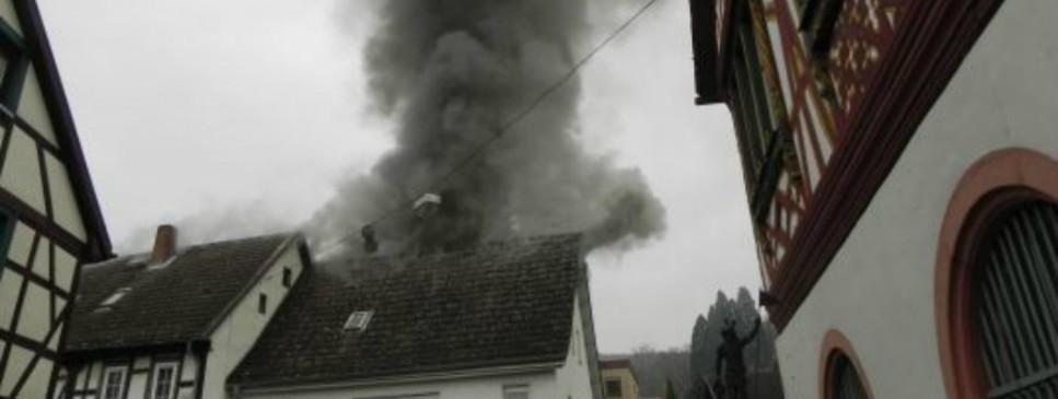 Dachstuhlbrand Seeheim